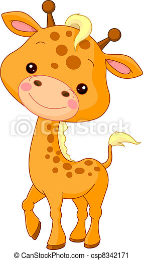 Fun zoo. Giraffe - csp8342171