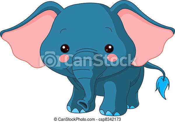 Fun zoo. Elephant - csp8342173