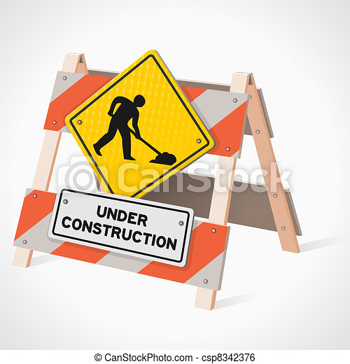 Under Construction Road Sign - csp8342376