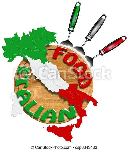 Italian Food - csp8343483
