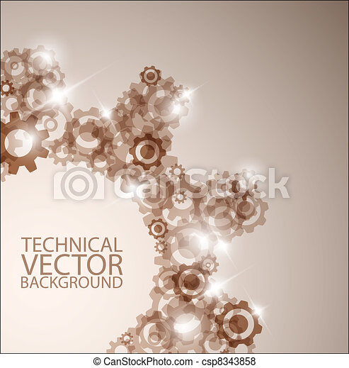 Vector technical background made from cogwheels - csp8343858