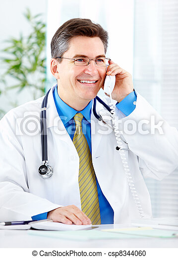 Medical doctor at the hospital. - csp8344060