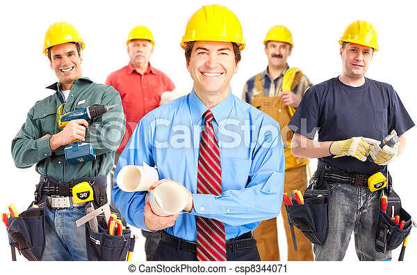 Industrial workers group. - csp8344071