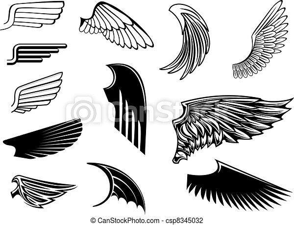 Set of heraldic wings - csp8345032