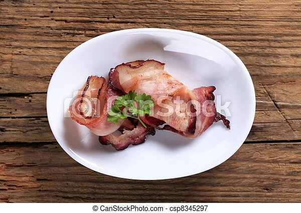 Slices of bacon - csp8345297