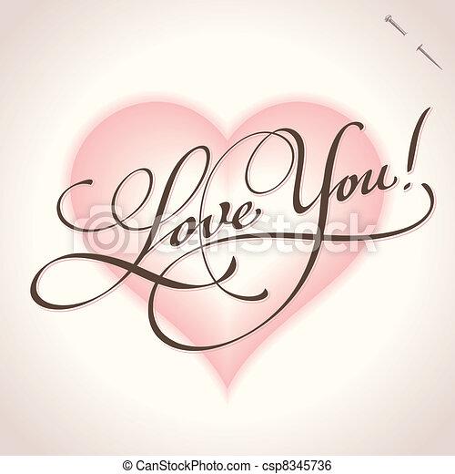 l love you надпись