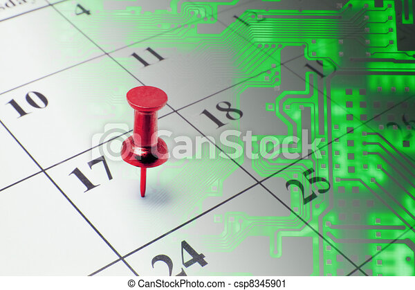 Calendar and Circuit Board - csp8345901