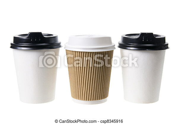 Takeaway Coffee Cups - csp8345916