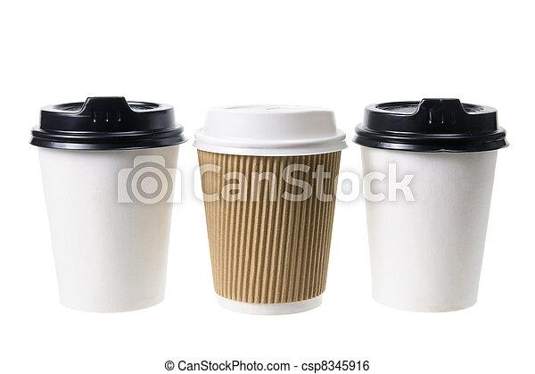 Takeaway Coffee Cups  - csp8345916