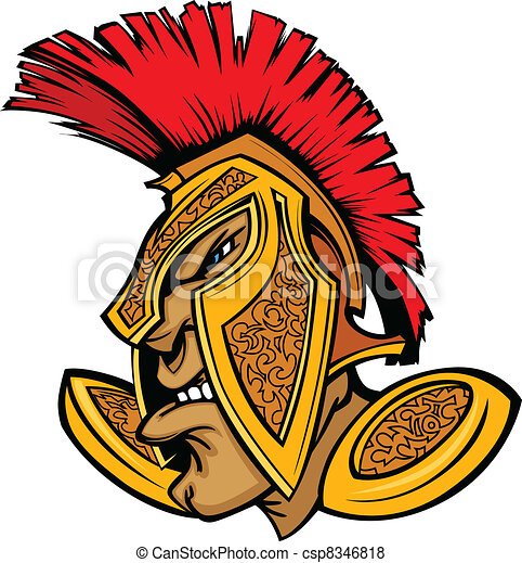 Roman Centurion Mascot Head with He - csp8346818