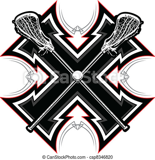 Lacrosse Sticks Graphic Vector Temp - csp8346820