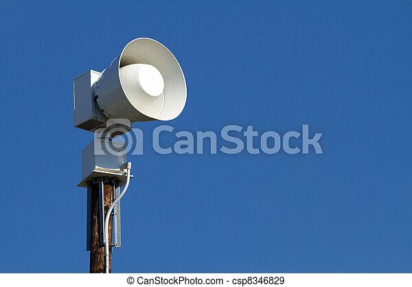 Public Emergency Warning Siren - csp8346829