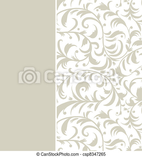 Floral background with place for your text - csp8347265