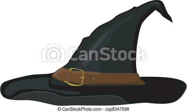 Vector  cartoon witch hat - csp8347598