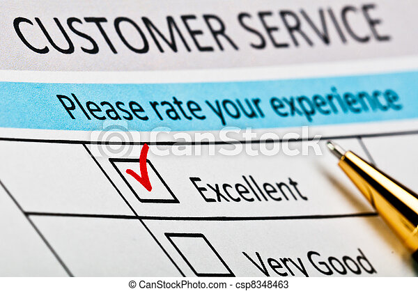 Customer service satisfaction survey form. - csp8348463