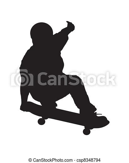 Skateboarder_2 - csp8348794