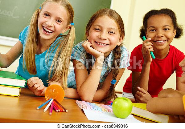 Happy classmates - csp8349016