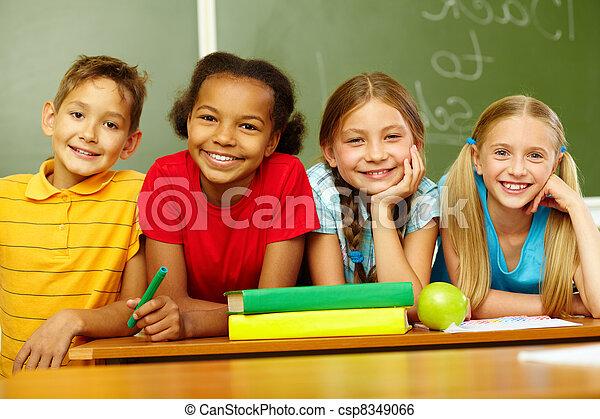Friendly schoolmates - csp8349066