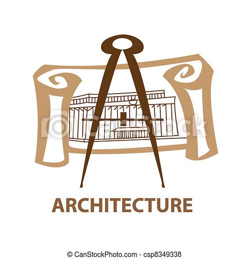 Vector De Arquitectura Plantilla Icono Arte Un