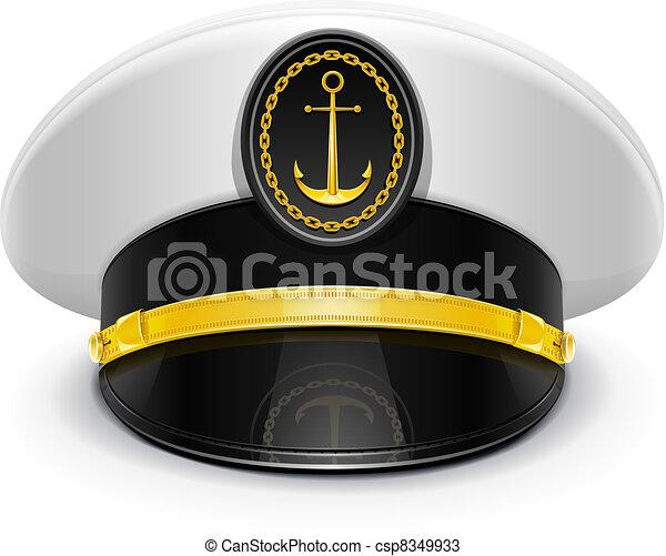 captain peaked cap with cockade - csp8349933