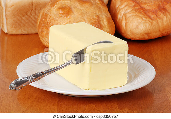 Butter with knife - csp8350757