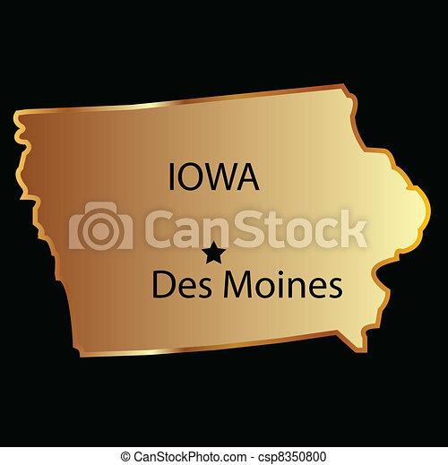 Iowa state map - csp8350800