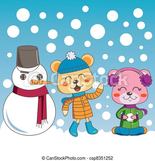 Outdoors Winter Fun - csp8351252