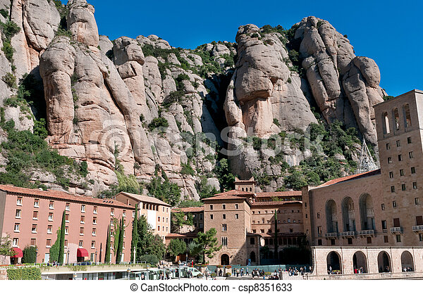 Santa Maria de Montserrat, Spain - csp8351633