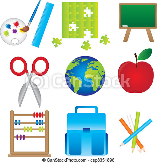 Materials of school  - csp8351896