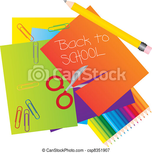 Materials to school - csp8351907