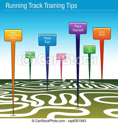 Running Track Training Tips - csp8351943