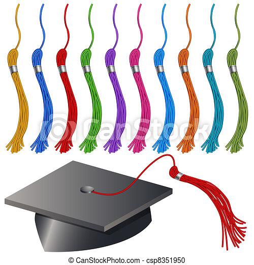 Graduation Cap and Tassel Set - csp8351950