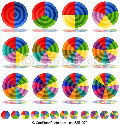 Pie Chart Target Icon Set - csp8351973