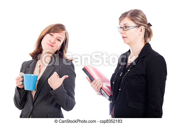 Business women colleagues rivalry - csp8352183