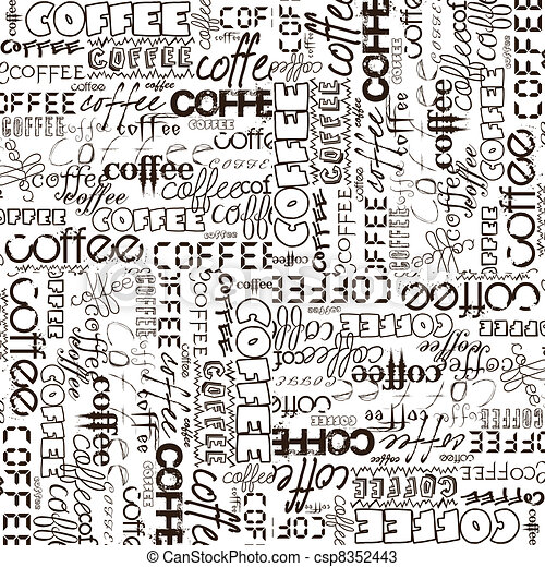 Background with coffee advertising - csp8352443