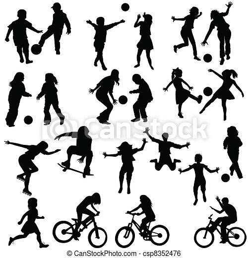 Group of active children - csp8352476