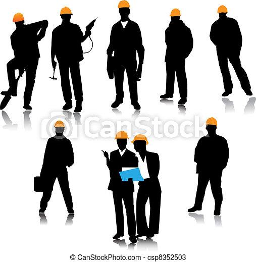 Builder people  - csp8352503
