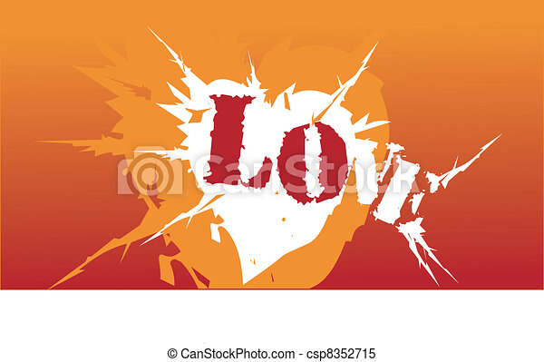 Orange Symbol Love Heart Attack - csp8352715