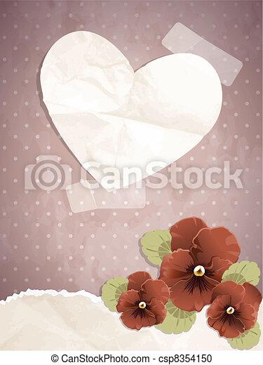Romantic vintage illustration - csp8354150