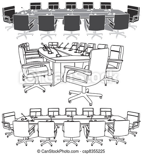 Conference Table Icon Meeting Conference Table