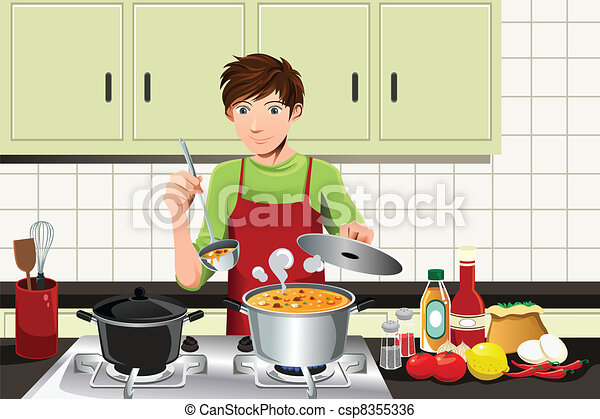 Clip art vecteur de cuisine homme a vecteur for Art and cuisine cookware review