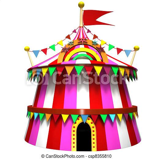 Illustration of a circus tent - csp8355810