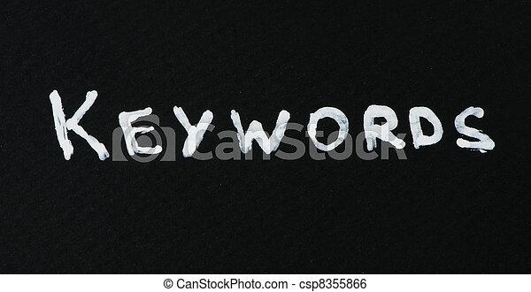 Keywords text conception - csp8355866