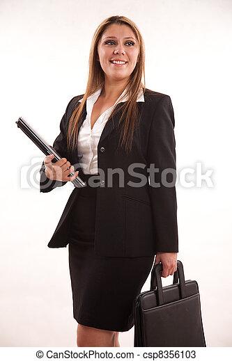 Pretty twenties latin american businesswoman - csp8356103