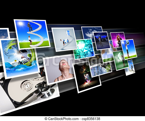 Screens with images flow - csp8356138