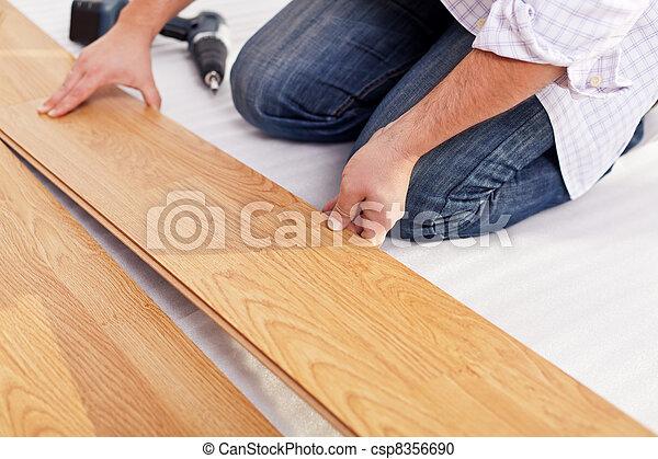 Installing laminate flooring - csp8356690