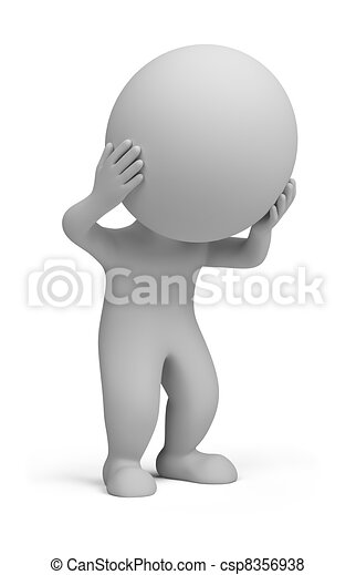 3d small people - stress - csp8356938