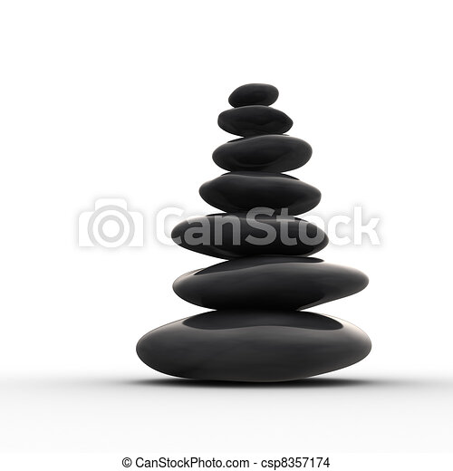 Balanced row from zen pebbles - csp8357174