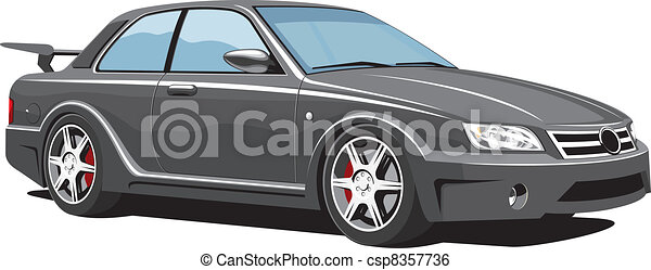 Black sports car - csp8357736