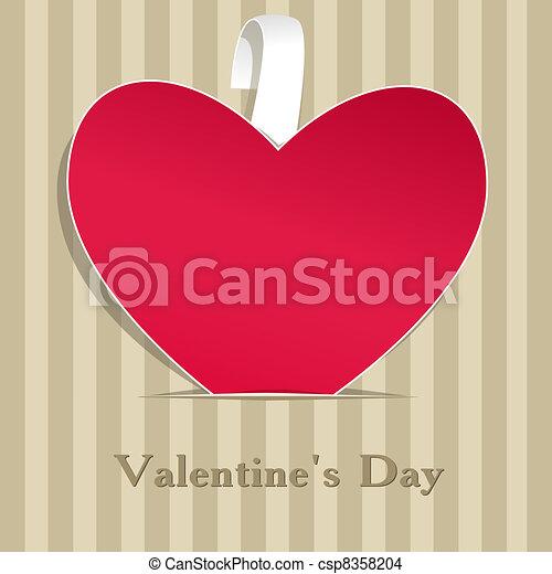Paper valentine handmade - csp8358204